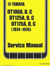 Yamaha service workshop manual 1974, 1975 & 1976 DT125A, DT125B & DT125C