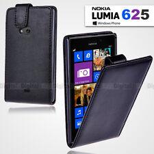 NEW Premium BLACK FLIP Wallet Leather Case Cover For NOKIA Lumia 625 Lumia625
