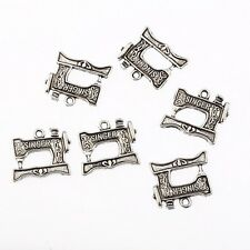 singer sewing machine Tibetan Silver Bead charms Pendants fit bracelet,10pcs