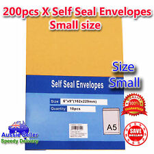 200Pcx Kraft Brown Peel N Seal Envelopes A5 C5 Document Paper Letter 162 x 229mm