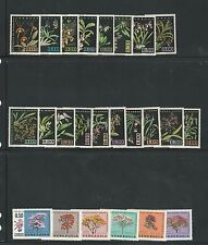 Venezuela: 6 Complete sets, 2 souvenirs sheets of flora and orchids mint. VE492