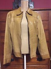 Men's Vintage Express Leather Jacket Tan Small