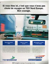 Publicité Advertising 1993 TGV Nord Europe SNCF