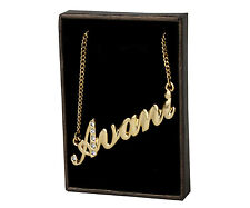 "Name Necklace ""AVANI"" - 18ct Gold Plated - Swarovski Elements - Custom Made Gift"