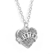 New Fashion Jewelry Gift Crystal Rhinestone Heart Words Charm Pendant Necklace