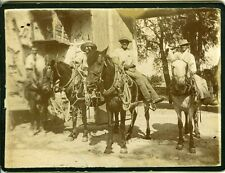 Les cavaliers scène de genre manade chevaux camargue french cow-boys photo 1900