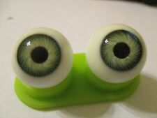 18 mm Green Vintage Glasaugen Glass Eyes 11 mm Iris W. Germany Doll Mannequin