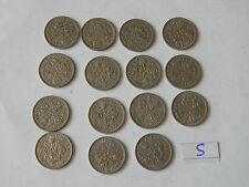 Lucky Sixpence Early Queen Elizabeth II X15 Old Coins Sixpence full set Wedding