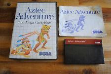 Jeu AZTEC ADVENTURE pour Sega MASTER SYSTEM Complet boite + notice