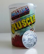 SDCC 2016 Super 7 Master of The Universe MOTU Muscle Trash Can & Token SET