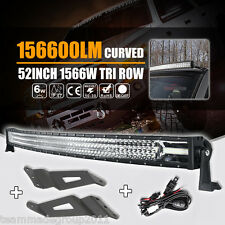 7D 52INCH 1566W CURVED LED LIGHT BAR & MOUNT BRACKET FIT FOR GMC SILVERADO CHEVY