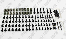 Black MOTORCYCLE FAIRING BOLTS KIT CLIPS SCREW For Yamaha YZF1000 YZF1000R 1997