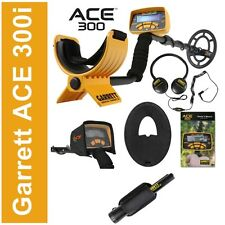 NUOVO 2016 METAL DETECTOR GARRETT ACE 300i ex ACE 250 CUFFIE PIASTRA PINPOINTER