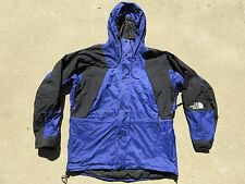 Mens Vintage The NORTH FACE Blue Goretex Vented Hooded Waterproof Jacket Large