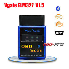 ELM327 V1.5 Bluetooth Vgate ELM327 OBDII interface Code Reader For Android