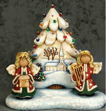 Ceramic Bisque Ready to Paint ChristmasTree, Base & Angels w/electric