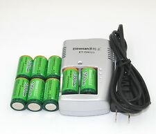 8pcs Etinesan 1350mAh 3v CR123A rechargeable LiFePO4 battery + CR123A charger