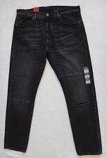 Levi's 501 Jeans 501 CT Men's Factory Ripped Black Denim Size 36x32
