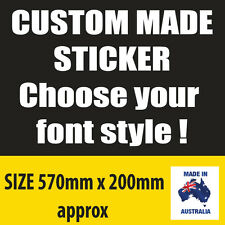 CUSTOM CAR CARAVAN RV 4WD Vinyl decal Sticker
