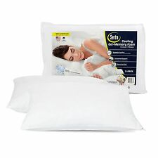 Serta Cooling Gel Memory Foam Cluster Pillows - Set of 2 Pack