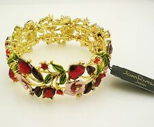 Joan Rivers Enamel & Crystal Hearts & Flowers Bracelet  Average