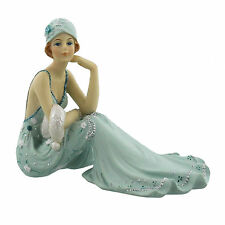Juliana Art Deco Broadway Belles Teal Blue Lady Figurine / Ornament.New.60831