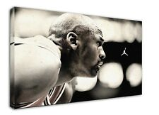 WK544 Michael Jordan Canvas Stretched Wood Framed 18x12inch Poster