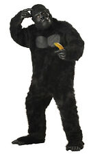 Adult Black Gorilla Ape King Kong Sasquatch Full Suit Costume, Plus Size