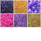200 Pcs - 6mm Round Glass Crackle Beads Jewellery Craft Beading PICK COLOUR