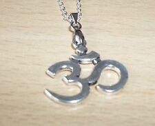 LOVELY TIBET SILVER OHM PENDANT WITH 18inch CHAIN
