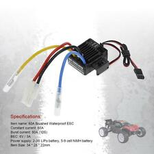 WP-1060-RTR Waterproof Brushed 2S-3S 60A ESC for 1/10 Tamiya HSP RC Car U0S2