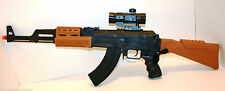 Kids Toy Gun AK47 SWAT Auto Electric With Flashing Lights Sounds and vibration