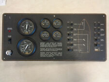 "GAUGE / SWITCH/ IGNITION PANEL 8403 BLACK / GOLD 21 1/4"" X 9 13/16"" MARINE BOAT"