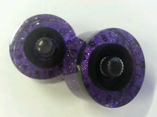 2 Guitar speed volume / tone knobs. Custom Black/Purple. JAT CUSTOM GUITAR PARTS