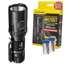 Nitecore MH20GT 1000 Lumen USB Rechargable LED Flashlight w/ 2x CR123A Batteries