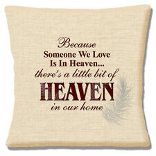 "SOMEONE WE LOVE IS IN HEAVEN MEMORIES LOVED ONE LOSS 16"" Pillow Cushion Cover"