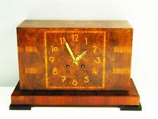 PURE ART DECO LORENZ FURTWAENGLER AND SON CHIMING MANTEL CLOCK  WITH PENDULUM