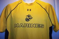 MARINE CORPS MILITARY UNDER ARMOUR HEAT GEAR RUNNING GYM SHIRT MENS MEDIUM