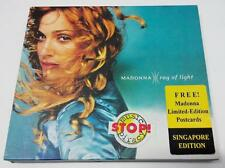 Mega Rare Madonna Ray Of Light CD Singapore Limited Edition 5x Postcards FCB968