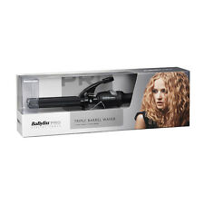 Babyliss Pro Porcelain Triple Barrel Waver Hair Curling Tong Iron REVAMPED