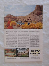 1956 Magazine Advertisement Page For Hertz Rent A Car System Ford New Mexico Ad