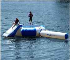 Lake Trampoline With Slide Large Water Bouncer Floating Dock Kids Rebounder Log