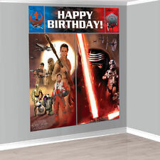 Star Wars The Force Awakens Wall Decoration Kit Scene Setter Birthday Party