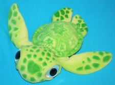 "Big Eyes Lime Green Plush SEA TURTLE 13"" Stars on Back Stuffed Animal Soft Toy"