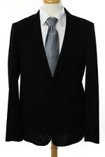 Balenciaga Mens Black Wool Reversible Blazer Size IT 50 New 107003