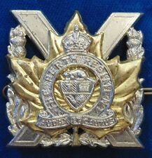SCULLY CANADA CANADIAN WW2 THE PERTH  REGIMENT brass cap badge KC KING'S CROWN