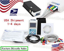 USA SHIPPING!24-hour Dynamic ECG System 12 leads,ECG Holter software TLC5000
