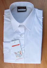Ladies/Girls Size 40in Long Sleeve School Uniform Blouse Tie Collar White