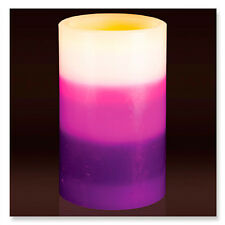 Lavender Scented Flameless LED Candle - Triple Layered Design