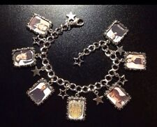 Silver Plated Charm Bracelet With Charms NCIS Gibbs Mcgee Ziva Abby Dinozzo